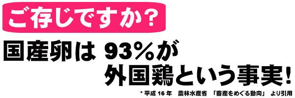 93%が外国鶏という事実