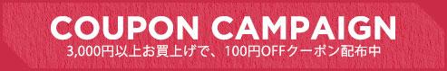 3000円以上購入で100円OFFクーポン