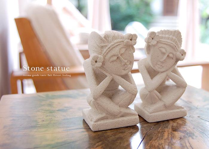 アジアン石像